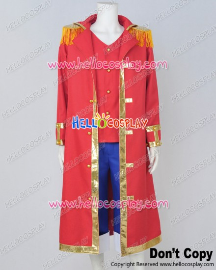One Piece Cosplay Monkey D Luffy Red Cape Uniform Costume