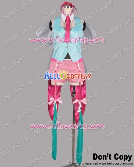 Macross Frontier Cosplay The End Of Triangle Ranka Lee Blue Pink Costume