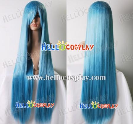 Cosplay Steel Blue Long Wig