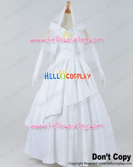 Attack On Titan Shingeki No Kyojin Cosplay Mikasa Ackerman Wedding Dress Costume