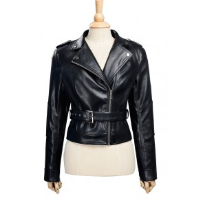 The Terminator Sarah Jeanette Connor Cosplay Costume Jacket Female Version