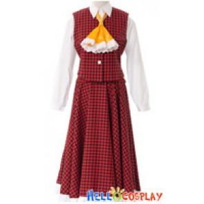 Touhou Project Cosplay Yuka Kazami Costume Lattice Dress