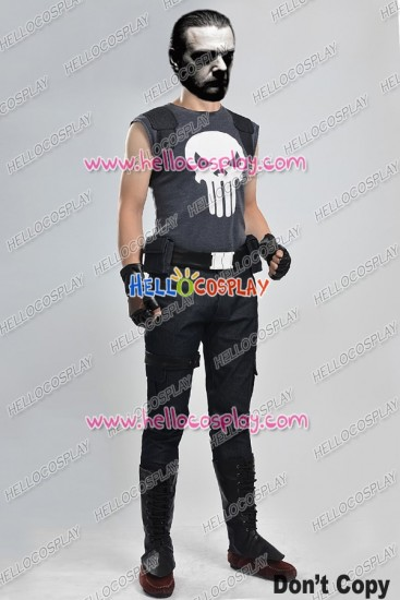 The Punisher And Punisher Frank Castle Cosplay Costume
