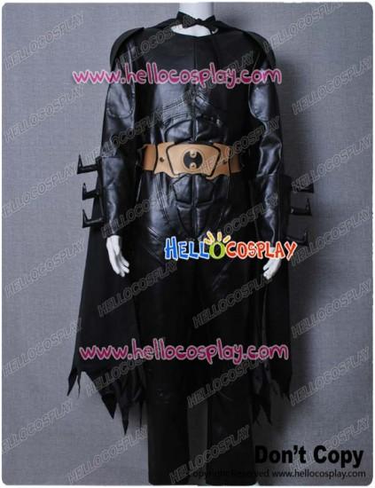 Batman Black Leather Costume With Helmet Mask