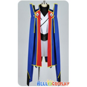 BlazBlue Cosplay Jin Kisaragi Blue Uniform Costume