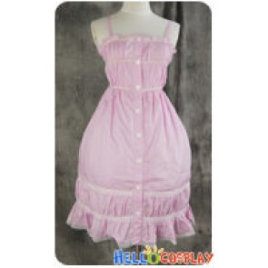 Gothic Lolita Cosplay Pink Sweet Summer Dress Costume