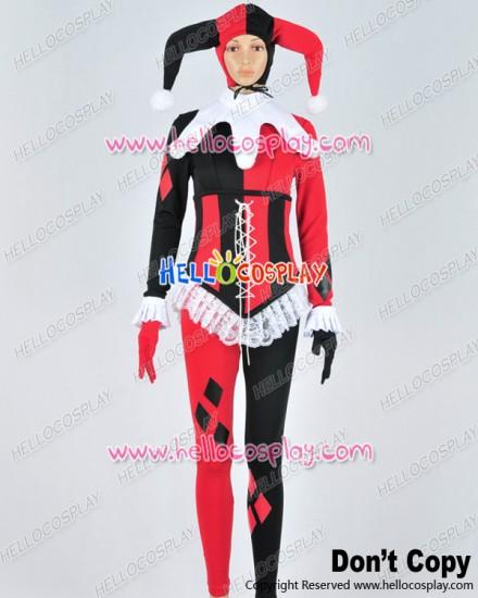 Batman Cosplay Harley Quinn Female Clown Uniform Costume New