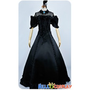 Vocaloid 2 Cosplay Miku Secret Black Oath Long Dress Costume