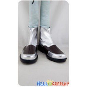 BlazBlue Cosplay Hazama Silver Brown Shoes