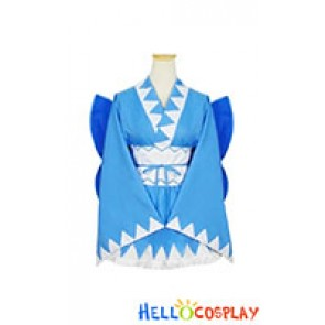Touhou Project Cosplay Cirno Kimono Dress