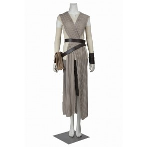 Star Wars The Force Awakens Rey Cosplay Costume Uniform