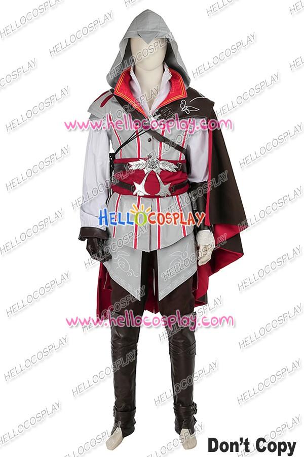 Assassin S Creed Ii Ezio Auditore Da Firenze Cosplay Costume White