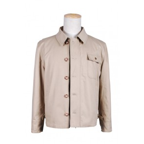 Smallville Clark Kent Cosplay Tan Button Beige Jacket Coat Costume