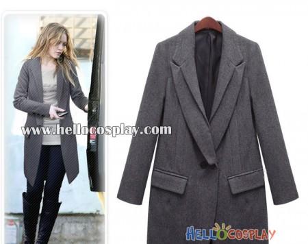 Gossip Girl Blair Waldorf Cosplay Costume Gray Coat
