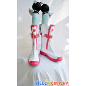 Vocaloid 3 Cosplay Ia White and Red Short Boots