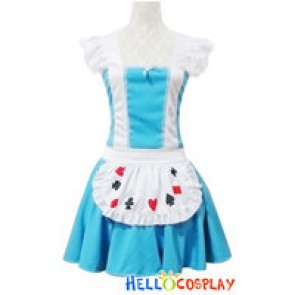 Angel Feather Cosplay Blue Maid Dress Costume