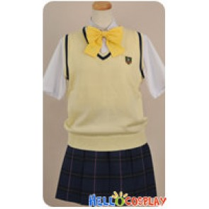Tokimeki Memorial Girls Side 3rd Story Cosplay Miyo Ugajin Yellow Uniform Costume