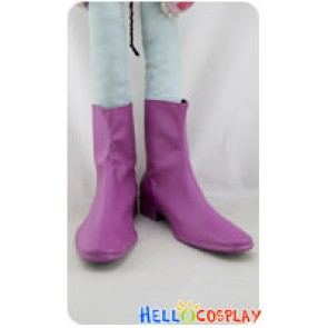 Adventure Time with Finn and Jake Cosplay Purple Short Boots