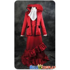Black Butler Kuroshitsuji Cosplay Madam Red Dress Costume