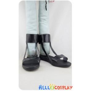 Naruto Cosplay Hyuga Hinata Black Sandals Shoes