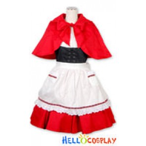 Gothic Lolita Costumes Red Dress