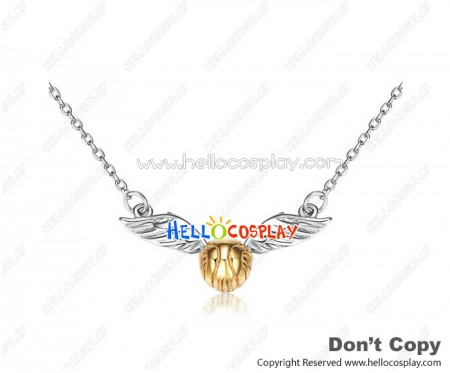 Harry Potter Cosplay Gold Snitch Silver Necklace Clavicle Chain