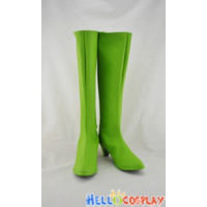 One Piece Cosplay Shoes Nico Robin Boots Green