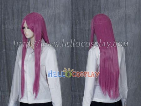 Orchid Purple Pink Medium Cosplay Straight Wig