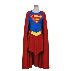 Superman Supergirl Jumpsuit Cosplay Costume