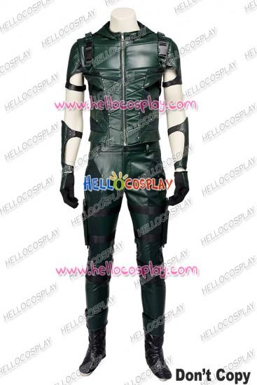Green Arrow Season 4 Oliver Queen Cosplay Costume Hoodie Combat Uniform