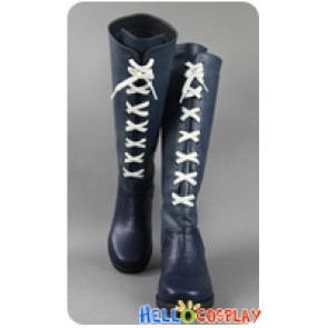 Final Fantasy X 2 Cosplay Yuna Long Dark Green Boots