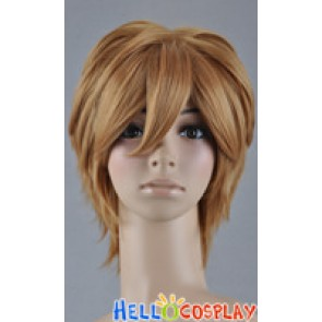 Gold Brown Short Cosplay Layered Wig