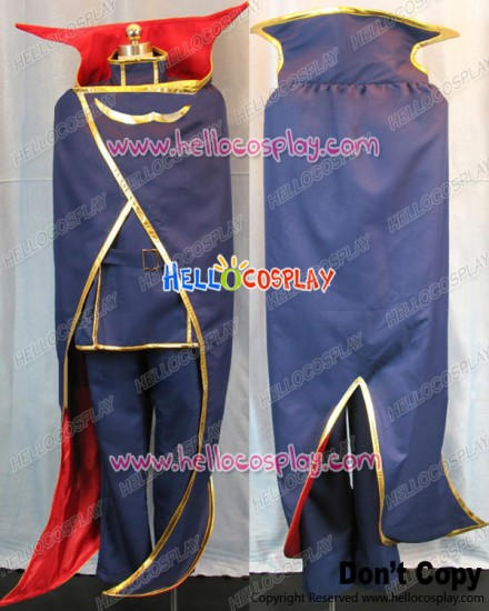 Code Geass Cosplay Lelouch Lamperouge Blue Large Cape Costume