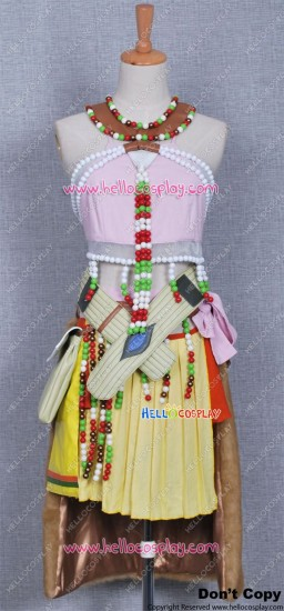 Final Fantasy XIII Cosplay Oerba Dia Vanille Costume