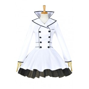 RWBY Season 2 Weiss Schnee White Trailer Cosplay Costume Dress
