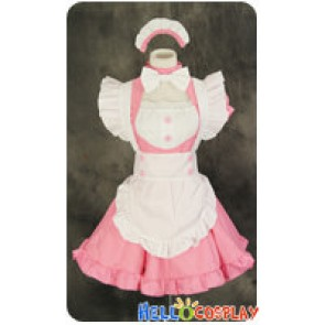 Maid Cosplay Pink White Dress Sweet Costume