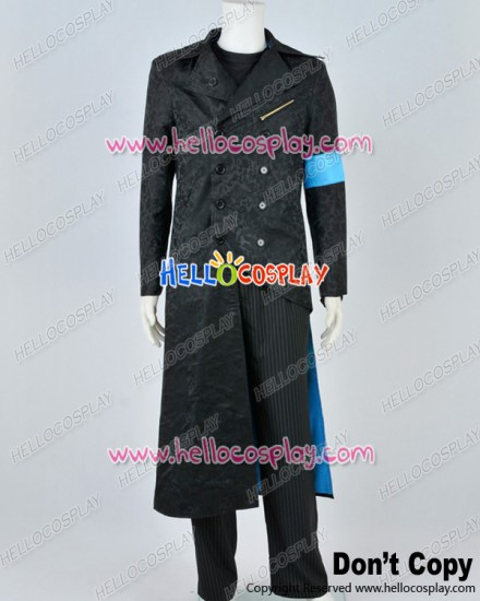 Devil May Cry DMC 5 Cosplay Vergil Black Trench Coat Costume