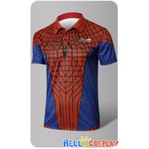 Spider Man Peter Parker The Amazing Cosplay Costume Polo Shirt