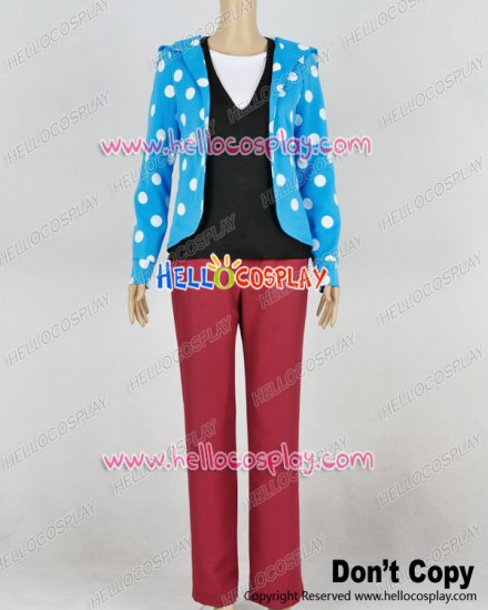 Brothers Conflict Cosplay Louis Asahina Blue Polka Dot Uniform Costume