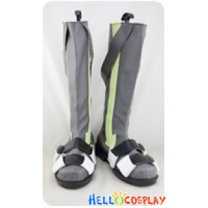 Kagerou Project Cosplay Konoha Grey Boots Light Green Stripe