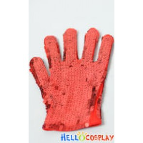 Michael Jackson Red Gloves