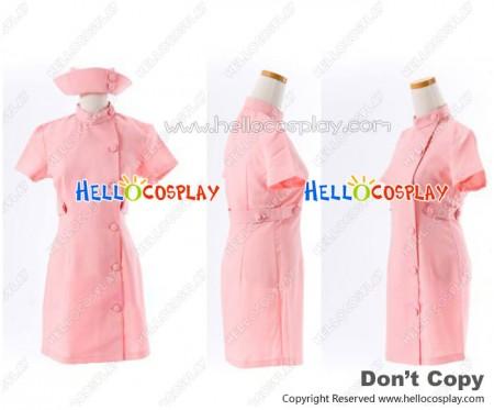 Suzumiya Haruhi Cosplay Mikuru Asahina Pink Nurse Dress Costume