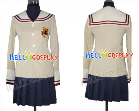 Clannad Cosplay Costume School Girl Uniform