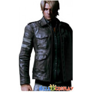 Resident Evil Cosplay Leon DSO Leather Jacket