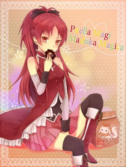 Puella Magi Madoka Magica Cosplay Kyoko Sakura Boots