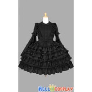 Gothic Lolita Punk Princess Sleeves Gorgeous Black Dress