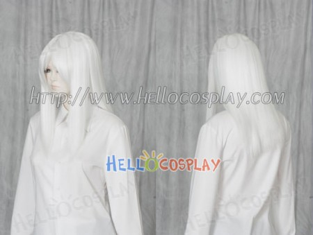 White 50cm Cosplay Straight Wig