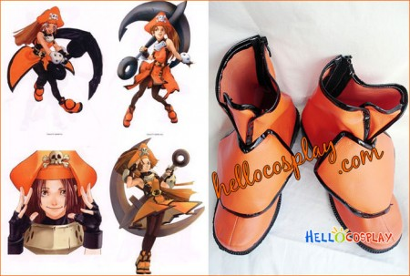 Guilty Gear XX Cosplay May Short Boots Orange