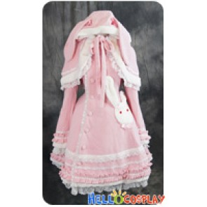 Sweet Bunny Lolita Dress Cape Jacket Cosplay Costume