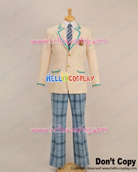 Storm Lover Cosplay School Boy Blue Plaid Pants Uniform Costume